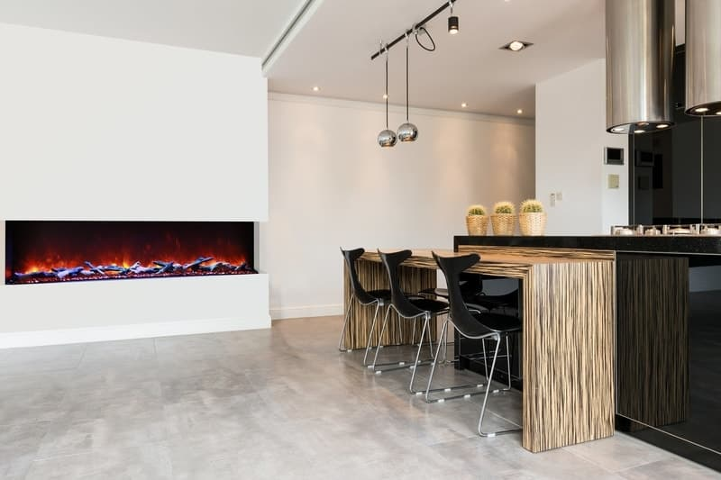 Amantii Sierra Flame Steel Surround 26″ Electric Fireplace