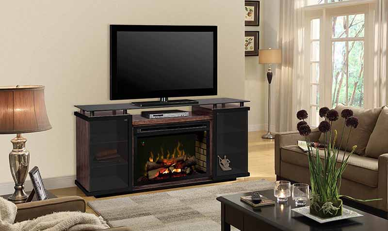 Amantii 50″ Wall-Mount/Flush Mount Linear Electric Fireplace